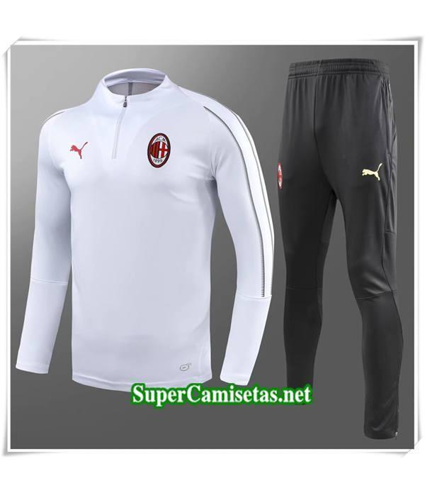 chandal AC Milan Blanc Col Haut 2018/19