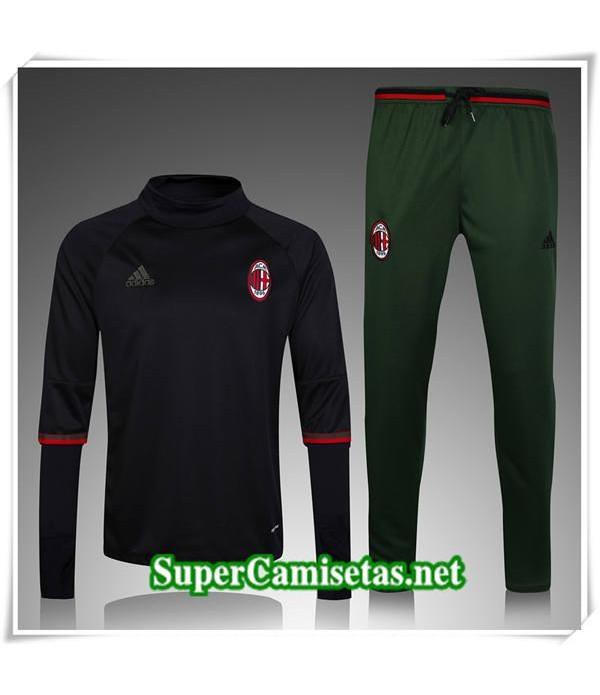 chandal de foot AC Milan Negro/Verde 2017/18