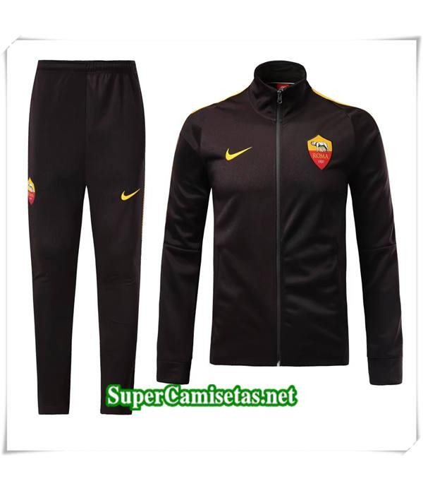 chandal AS Roma Negro 2017/18