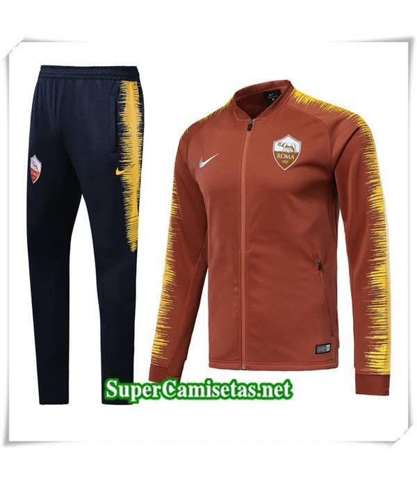 chandal AS Roma Orange Taladro de huelga 2018/19