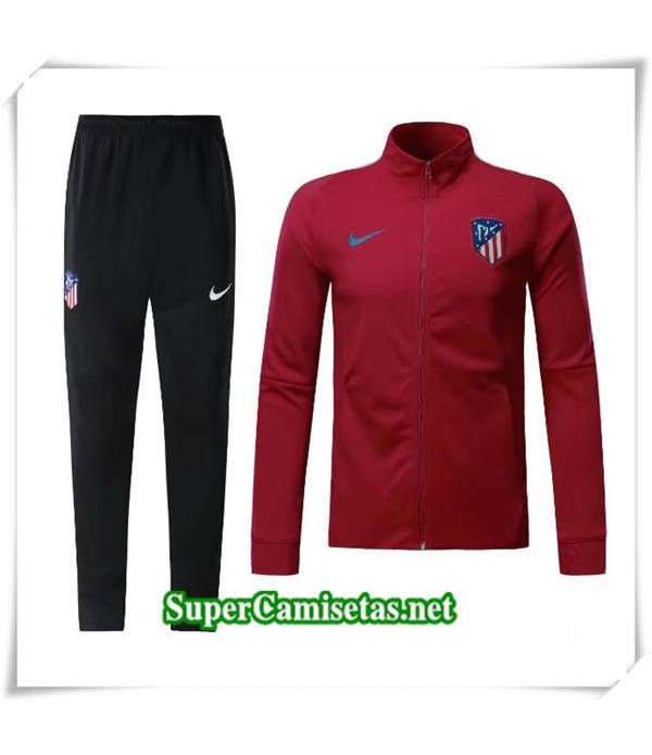 chandal Atletico Madrid Roja Fonce 2017/18