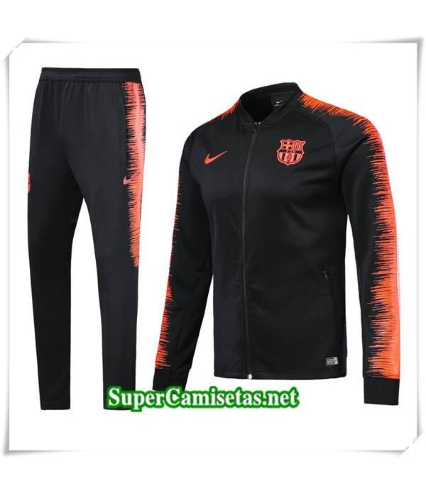 chandal FC Barcelona Negro/Orange Taladro de huelga 2018/19