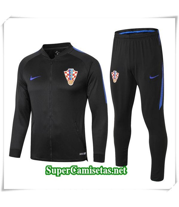 chandal Croacia Negro 1819