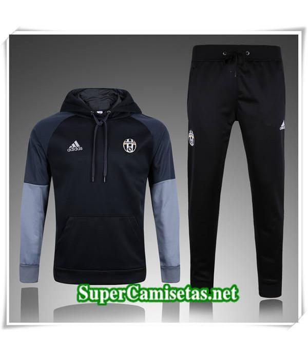 chandal Juventus Negro a Capuche 2017/18