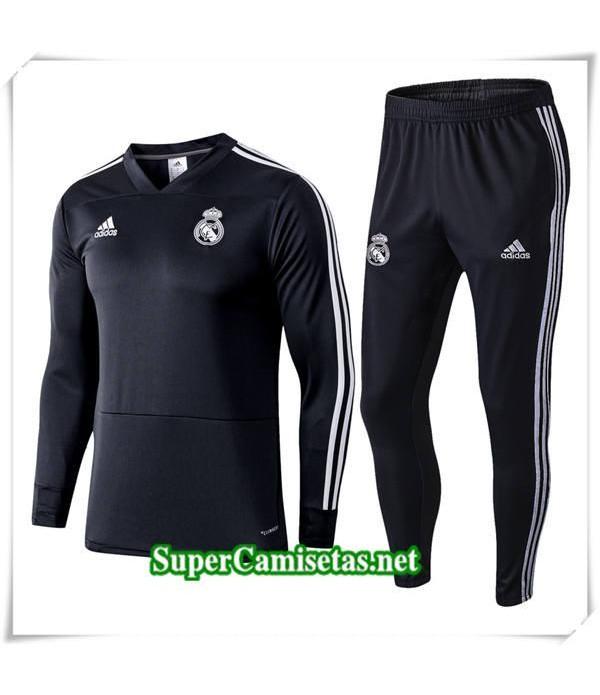 chandal Real Madrid V Negro 2018/19 para la Champions League