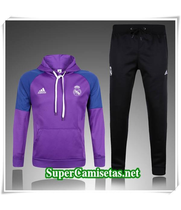 chandal Real Madrid Violet a Capuche 2017/18