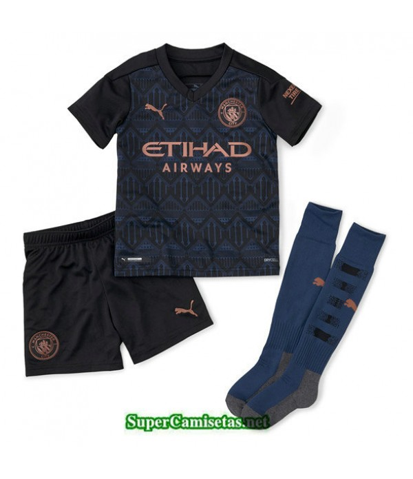 Tailandia Segunda Equipacion Camiseta Manchester City Niños 2020/21
