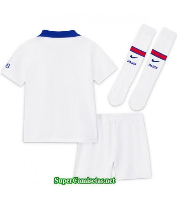 Tailandia Segunda Equipacion Camiseta Psg Niños Blanco 2020/21