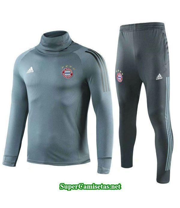 Camiseta entrenamiento Bayern Munich ML Gris 2018 ...