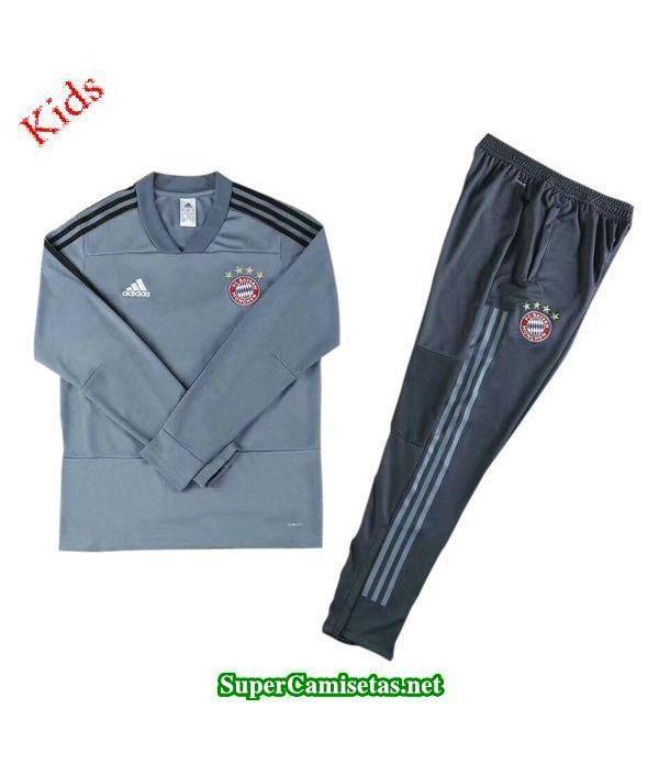 Camiseta entrenamiento Bayern Munich Ninos ML Gris...