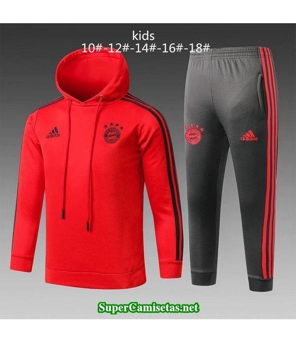 Camiseta entrenamiento Bayern Munich Ninos ML Rojo...