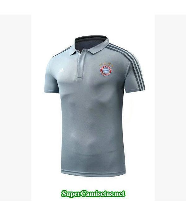 Camiseta polo Bayern Munich Gris-01 2018 2019