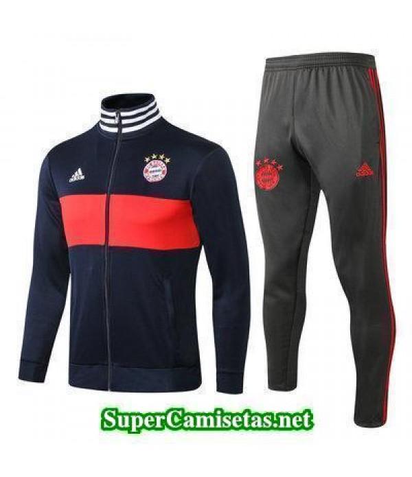 Chaquetas Bayern Munich Azul oscuro 2018 2019 bara...