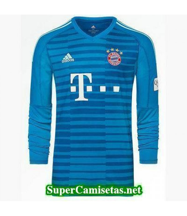 Portero Equipacion Camiseta Bayern Munich Manga Larga Azul 2018/19