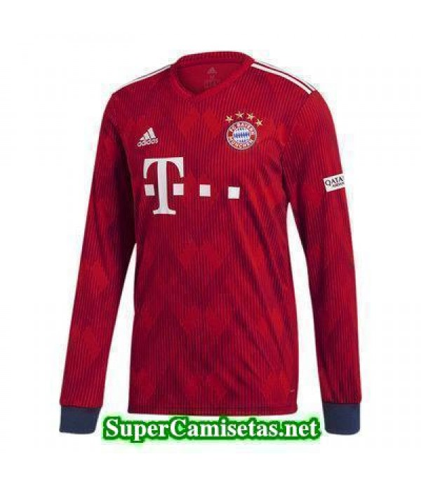 Primera Equipacion Camiseta Bayern Munich Manga Larga 2018/19