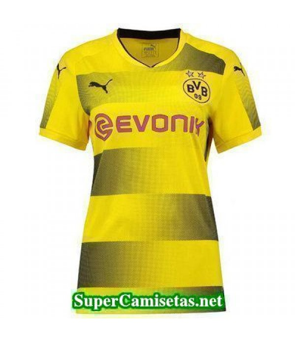 Primera Equipacion Camiseta Dortmund Mujer 2017/18
