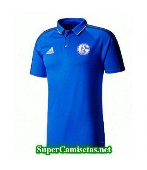 Camiseta polo Schalke 04 azul 2017 2018