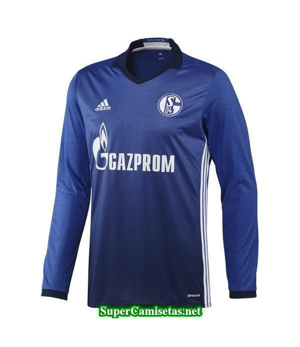 Primera Equipacion Camiseta Schalke 04 Manga Larga 2016/17