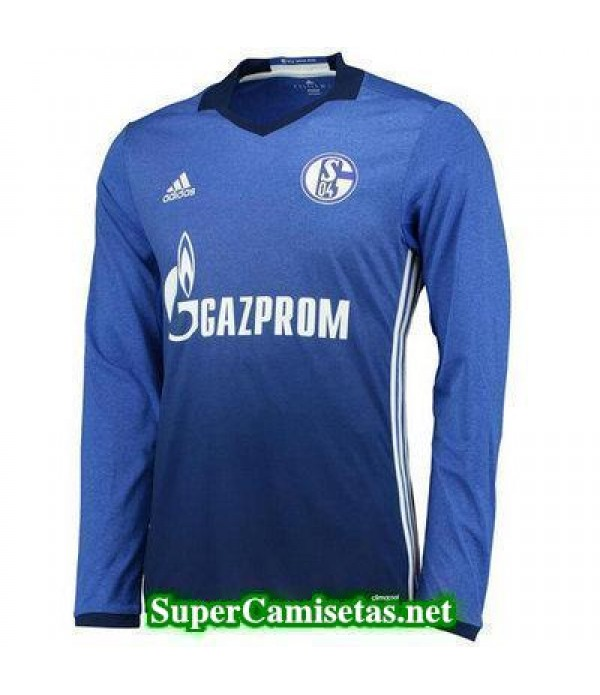 Primera Equipacion Camiseta Schalke 04 Manga Larga 2017/18