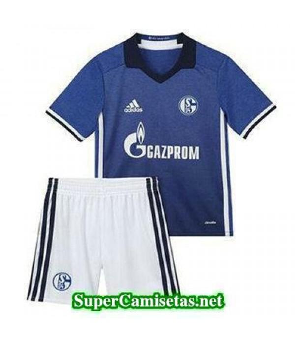 Primera Equipacion Camiseta Schalke 04 Ninos 2016/17