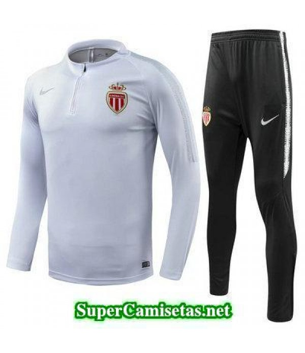 Camiseta entrenamiento AS Monaco ML Blanco 2018 2019