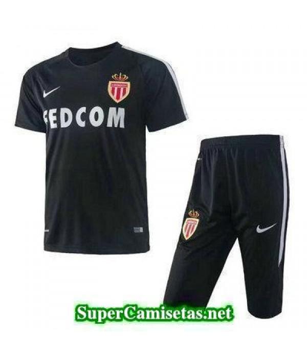 camiseta entrenamiento AS Monaco negro 2017 2018