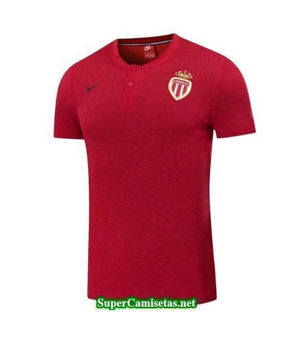 Camiseta polo AS Monaco rojo 2017 2018