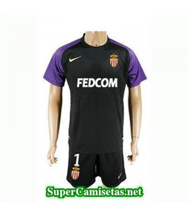 Portero Equipacion Camiseta AS Monaco negro 2017/18