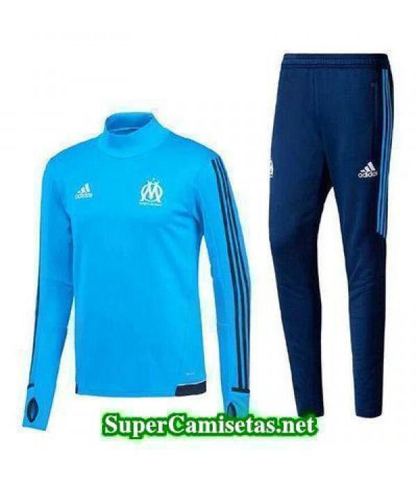 Camiseta entrenamiento Marsella ML Azul 2017 2018