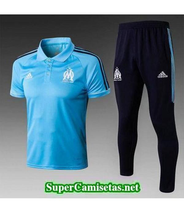 Camiseta polo Marsella Azul 2018 2019