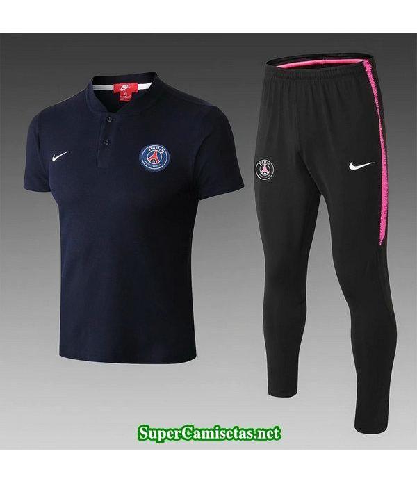 Camiseta polo PSG Azul oscuro-01 2018 2019