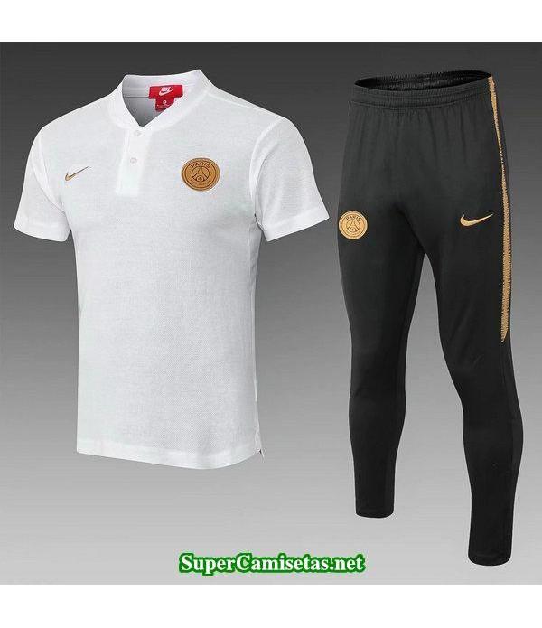 Camiseta polo PSG Blanco 2018 2019