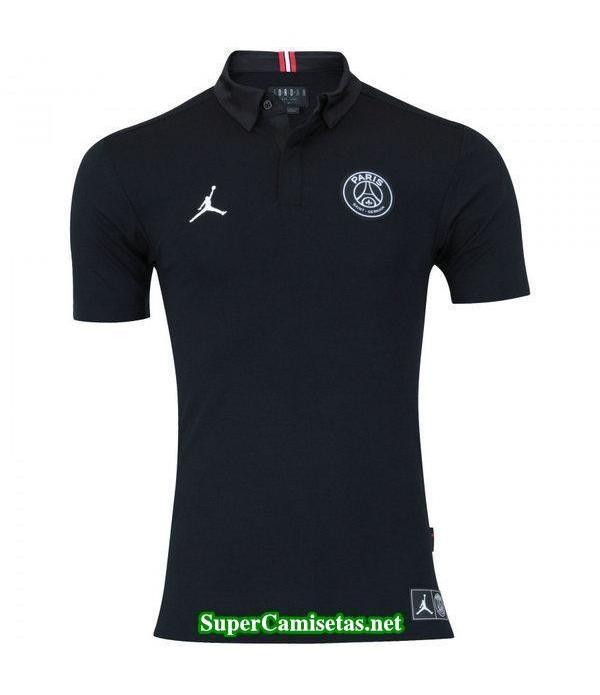 Camiseta polo PSG Negro-01 2018 2019