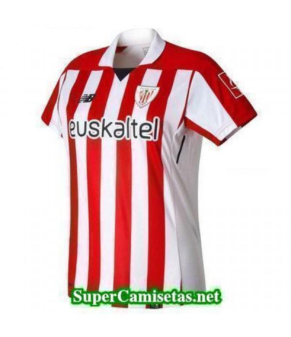 Primera Equipacion Camiseta Athletic de Bilbao Mujer 2017/18