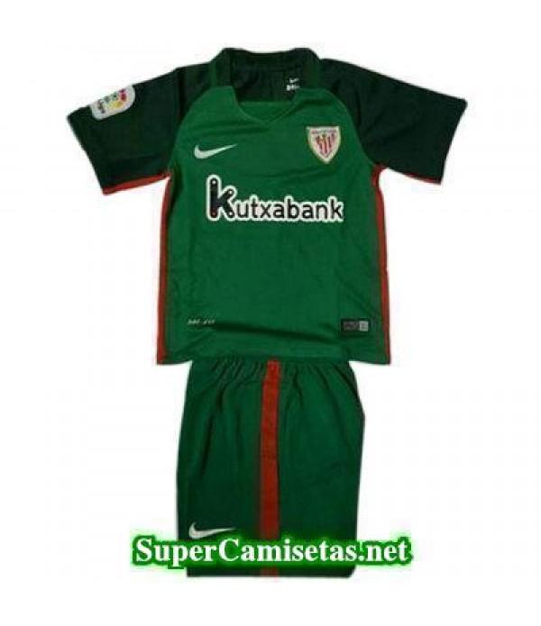 Segunda Equipacion Camiseta Athletic de Bilbao Ninos 2016/17