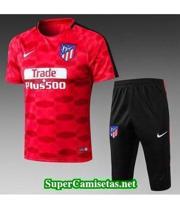 camiseta entrenamiento Atletico de Madrid Rojo-01 2017 2018