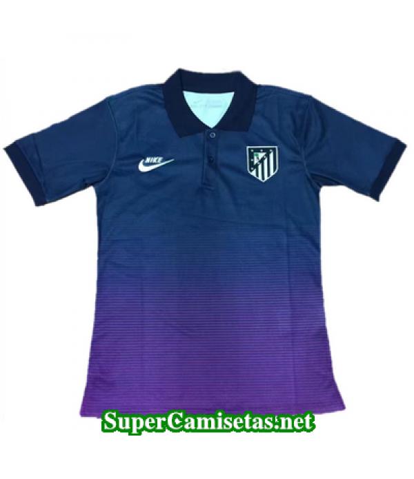 Camiseta polo Atletico de Madrid Azul oscuro 2017 2018
