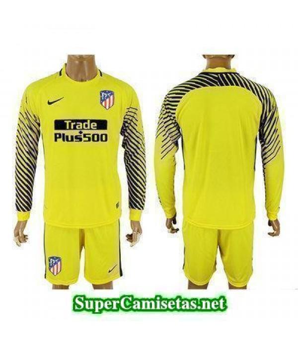 Portero Equipacion Camiseta Atletico de Madrid ML Amarillo 2017/18