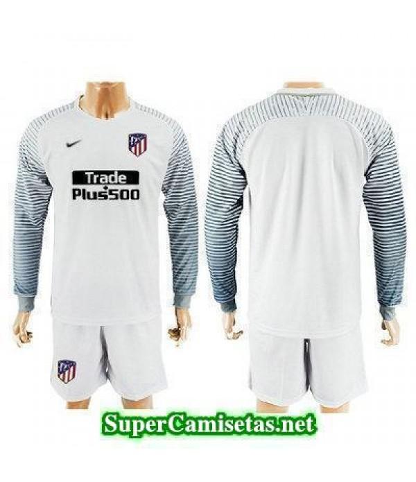 Portero Equipacion Camiseta Atletico de Madrid ML Blanco 2017/18