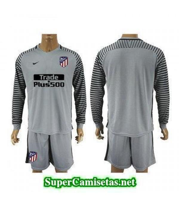 Portero Equipacion Camiseta Atletico de Madrid ML Gris 2017/18