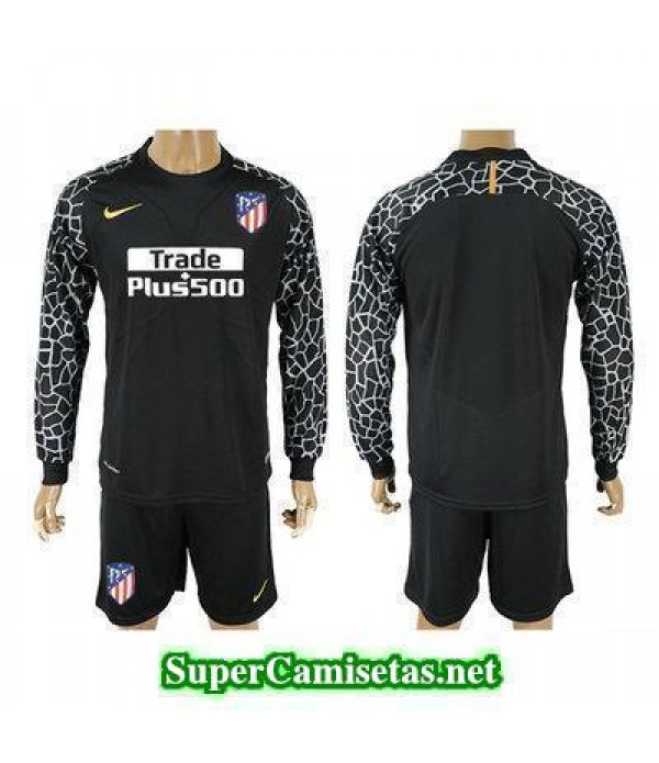 Portero Equipacion Camiseta Atletico de Madrid ML Negro 2017/18