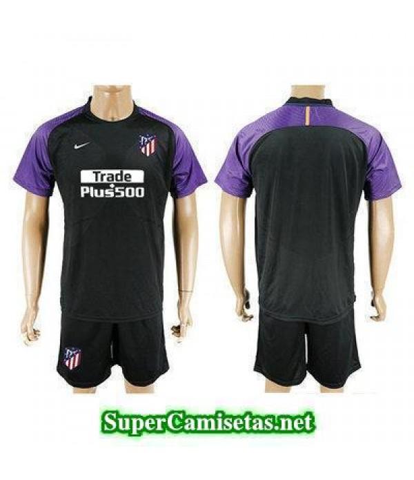 Portero Equipacion Camiseta Atletico de Madrid Neg...
