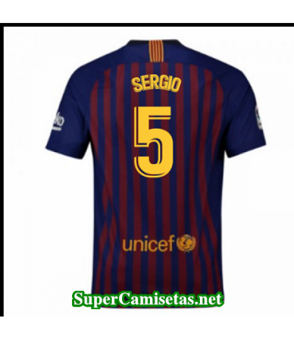 Primera Equipacion Camiseta Barcelona Sergio 2018/19