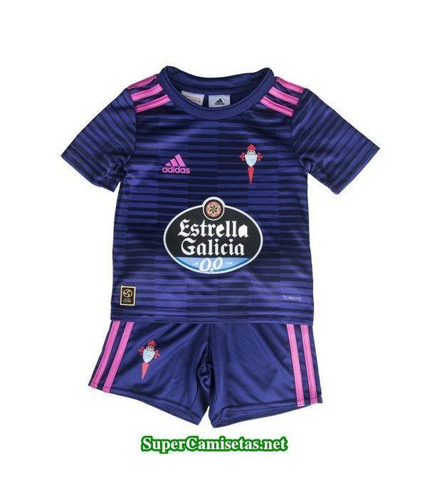 Segunda Equipacion Camiseta Celta de Vigo Ninos 2018/19