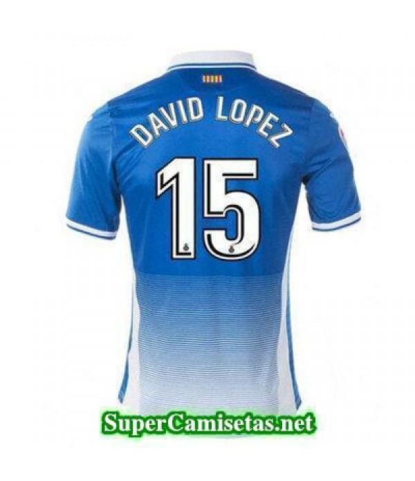 Primera Equipacion Camiseta Espanyol DAVID LOPEZ 2017/18