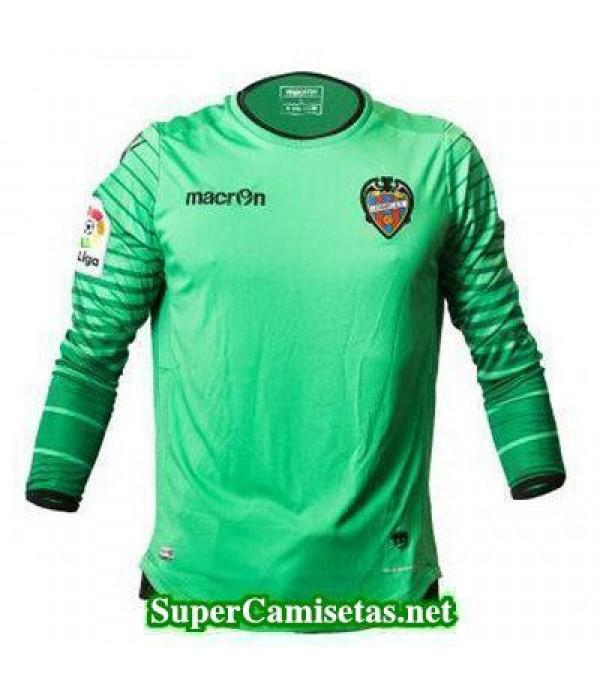 Portero Equipacion Camiseta Levante Manga Larga verde 2016/17