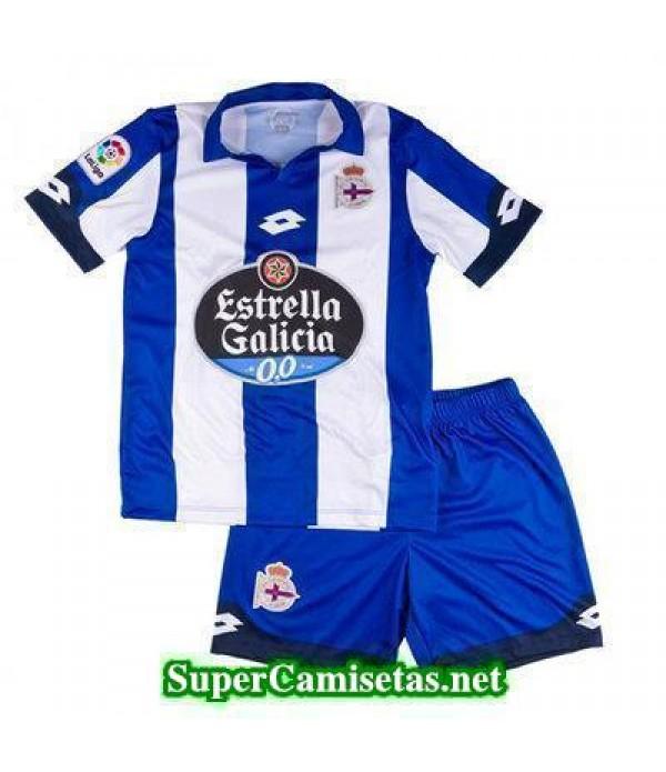 Primera Equipacion Camiseta RC Deportivo Ninos 2016/17