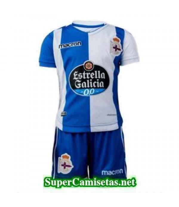 Primera Equipacion Camiseta RC Deportivo Ninos 2017/18