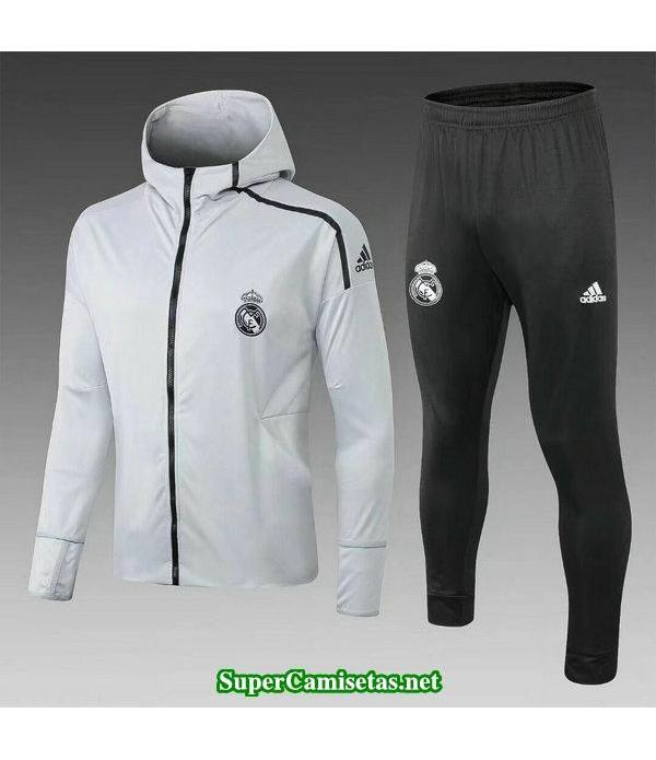 Chaquetas Real Madrid Blanco-01 2018 2019 baratas