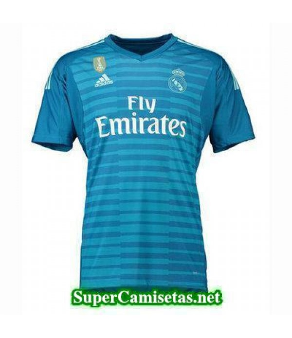 Portero Equipacion Camiseta Real Madrid Azul 2018/...